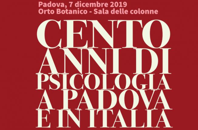 Collegamento a Cento anni di psicologia a Padova e in Italia